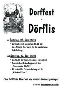 Dorffest in Dörflis 2010